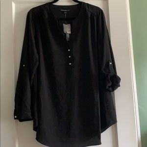 Zac & Rachel woman black blouse 1X
